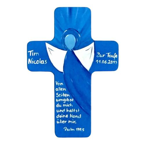 Taufkreuz Holzkreuz Kinderkreuz Engel  zur Taufe/Geburt/Kommunion