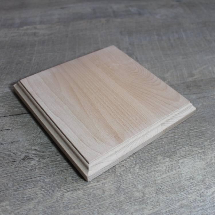 Unbehandelter Holzsockel für 3d Handabdruck oder Fußabdruck, Buche Bild 1