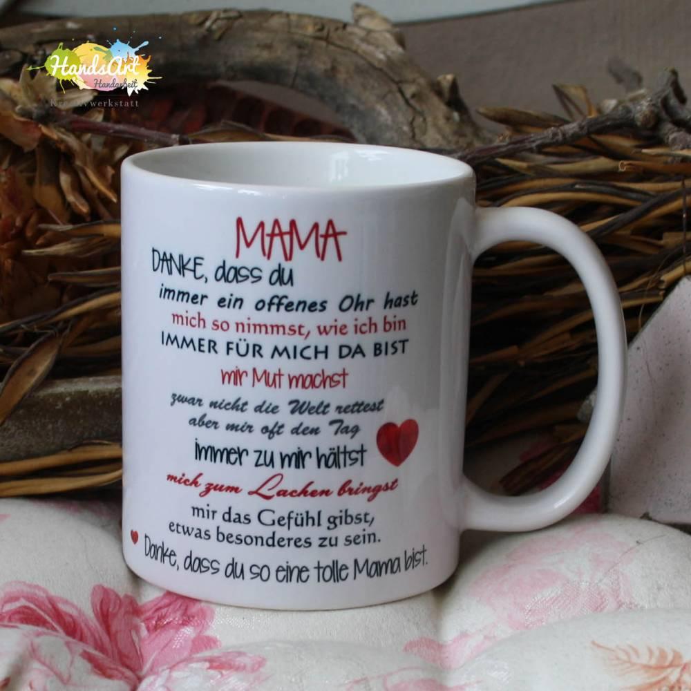 Tasse - MAMA, Danke (ICH)  Bild 1