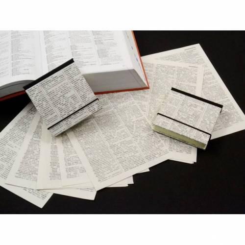 Klebezettel Mäppchen Haftnotiz Mäppchen aus altem Wörterbuch Upcycling