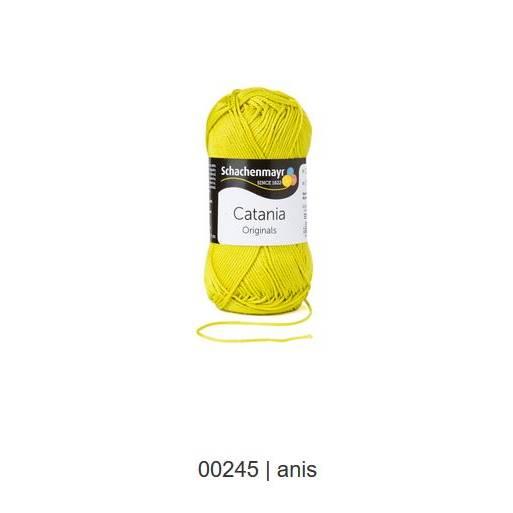 Schachenmayr Catania - 100 % Baumwolle - 50 g Knäuel  - Farbe 245 anis Bild 1