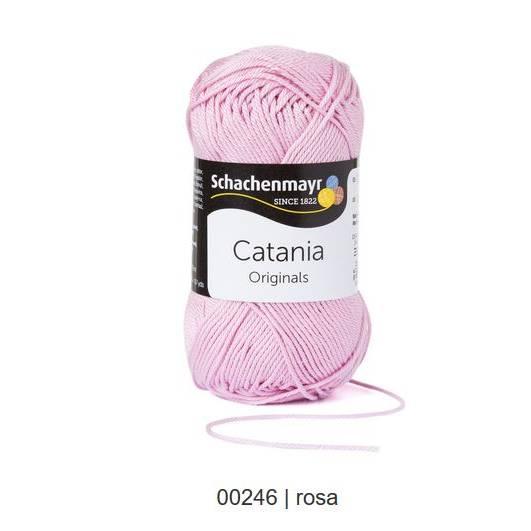 Schachenmayr Catania - 100 % Baumwolle - 50 g Knäuel - Farbe 246 rosa Bild 1