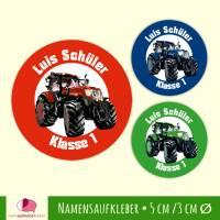 Namensaufkleber rund  | Traktor Bild 1