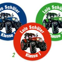 Namensaufkleber rund  | Traktor Bild 2