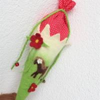 Schultüte gefilzt Filzschultüte Geschwisterschultüte Pferd Pony für Mädchen  Bild 4