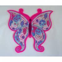 Schmetterling Applikation Bild 1