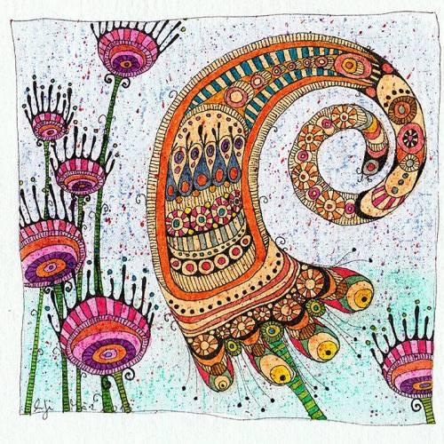 bunte Original Zeichnung, Frühlingsvorfreude, Blumenbild, Kunst für Blumenliebhaber, Geschenk für Gärtner, Deko für die Essecke