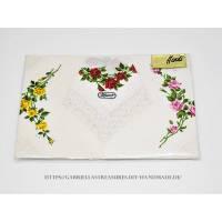 Vintage Stofftaschentücher, Damen Stoff Taschentücher weiß, 3er Set, MACO, neu&unbenutzt Bild 1